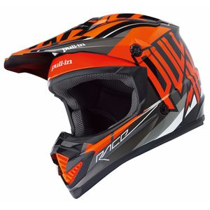 Casque Cross Pull-in Moto - Orange - 2018