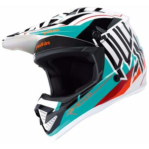 Casque Cross Pull-in Moto - Aqua - 2018