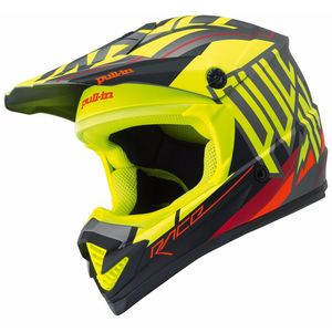 Casque cross MOTO KID - JAUNE FLUO MAT -  2018 Jaune fluo