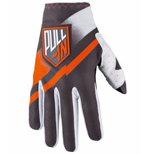Gants cross CHALLENGER - GRIS ORANGE -  2018 Gris/Orange