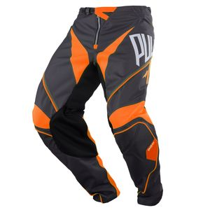 Pantalon cross CHALLENGER KID - GRIS ORANGE -   Gris/Orange