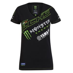 T-Shirt manches courtes LADY  - TECH3 MONSTER ENERGY - BLACK GREEN  Black Green