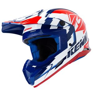 Casque cross TRACK NAVY WHITE RED 2019 Bleu/Blanc