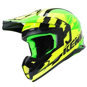 Casque cross TRACK GREEN NEON YELLOW 2019 Vert/Jaune