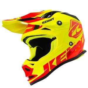 Casque cross TRACK RED NEON YELLOW ENFANT  Rouge/Jaune