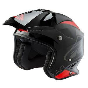 Casque cross TRIAL AIR BLACK RED 2020 Noir/Rouge