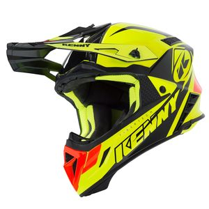 Casque cross TROPHY NEON YELLOW ORANGE 2019 Jaune/Orange