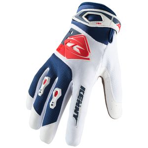 Gants cross TRACK WHITE NAVY RED 2019 Blanc/Bleu/Rouge