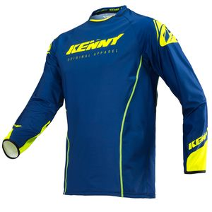 Maillot cross TITANIUM NAVY NEON YELLOW 2019 Bleu/Jaune