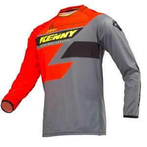 Maillot cross TRACK ORANGE GREY NEON YELLOW 2019 Orange/Jaune