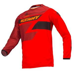 Maillot cross TRACK FULL RED ENFANT  Rouge
