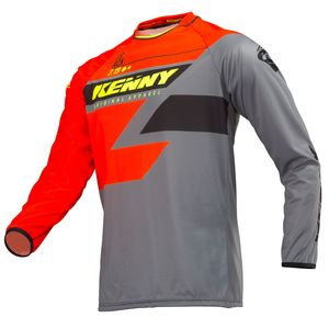 Maillot cross TRACK ORANGE GREY NEON YELLOW ENFANT  Orange/Gris