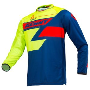 Maillot cross TRACK LIME NAVY RED ENFANT  Jaune Fluo