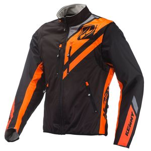 Veste Enduro Kenny Softshell Enduro Black Neon Orange 2019