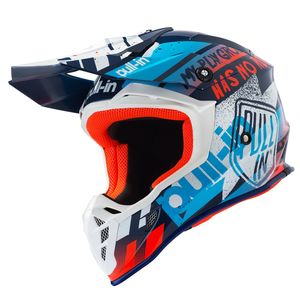 Casque cross TRASH  NAVY ORANGE ENFANT  Navy/Orange