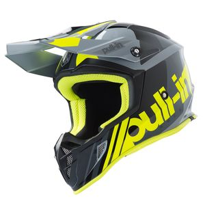 Casque cross RACE GREY NEON YELLOW 2019 Gris/Jaune