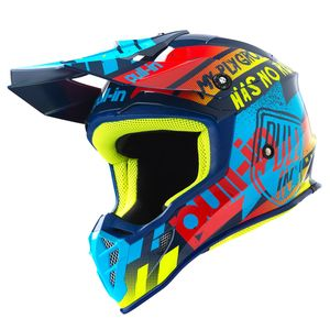 Casque cross TRASH  CYAN RED 2019 Cyan/Red