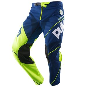 Pantalon cross RACE NAVY LIME ENFANT  Bleu/Jaune