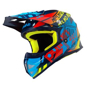 Casque cross TRASH CYAN RED ENFANT 2019 Bleu/Rouge