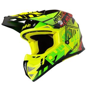 Casque cross TRASH NEON YELLOW LIME ENFANT  Jaune/Vert