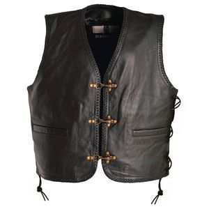 Gilet SADIC WITH LACES  Black