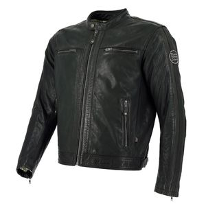 Blouson GOODWOOD PERFORATED  Black / Dark Brown