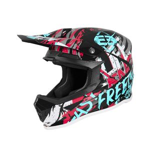 Casque cross XP-4 - MANIAC - BLACK TURQUOISE PINK GLOSSY 2020 Black Turquoise Pink Glossy