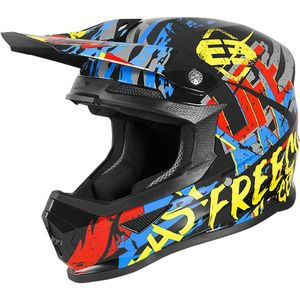Casque cross XP-4 - MANIAC - BLACK YELLOW RED BLUE GLOSSY 2020 Black Yellow Red Blue