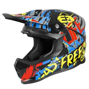 Casque cross XP4 KID - MANIAC - BLACK YELLOW RED BLUE  Black Yellow Red Blue