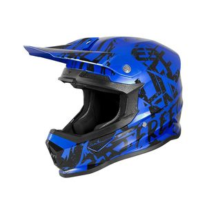 Casque cross XP-4 - MANIAC - BLUE CHROME BLACK GLOSSY 2020 Blue Chrome Black Glossy