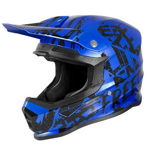 Casque cross XP4 KID - MANIAC - BLUE CHROME BLACK  Blue Chrome Black