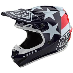 Casque cross SE4 POLYACRYLITE - FREEDOM - RED WHITE BLUE 2020 RED WHITE BLUE