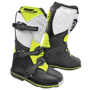 Bottes cross K10 2.0 - KID - BLACK WHITE NEON YELLOW  Black White Neon Yellow