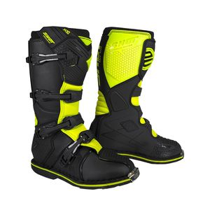 Bottes cross X10 2.0 - BLACK NEON YELLOW 2021 Black Neon Yellow