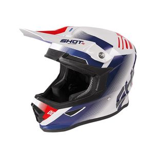 Casque cross FURIOUS - TRUST - BLUE RED WHITE METALLIC GLOSSY 2020 Blue Red White