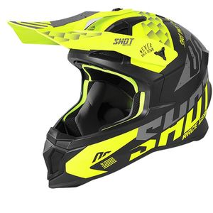 Casque cross LITE - RUSH - NEON YELLOW GREY MATT 2021 Neon Yellow