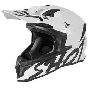 Casque cross LITE - SOLID - WHITE GLOSSY 2021 White