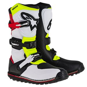 Bottes cross TECH-T - WHITE RED YELLOW FLUO BLACK 2020 White/Red/Yellow