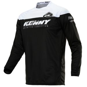 Maillot cross TRACK RAW - BLACK WHITE 2020 Noir