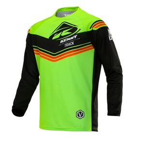 Maillot cross TRACK KID - VICTORY - LIME BLACK  Green Black