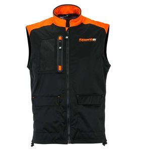 Veste enduro BODYWARMER + - BLACK NEON ORANGE 2021 Black Neon Orange