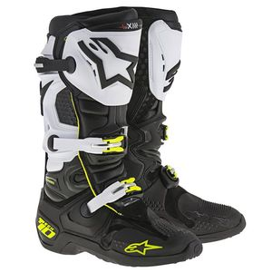 Bottes Cross Alpinestars Tech 10 Black White 2018