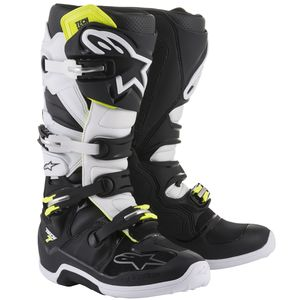 Bottes cross TECH 7 BLACK WHITE  2018 Black/white