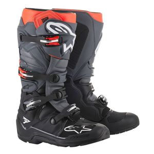 Bottes cross TECH 7 ENDURO BLACK GRAY RED FLUO 2021 Black Gray Red Fluo