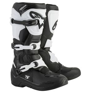 Bottes cross TECH 3 - BLACK WHITE 2021 Black/white