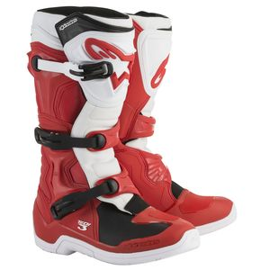 Bottes cross TECH 3 - RED WHITE 2020 Red/White