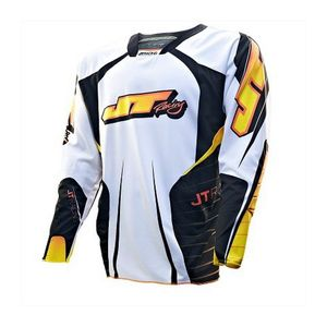 Maillot Cross Jt Evo Protek Race Noir Blanc Orange