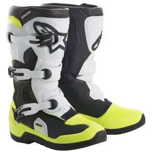 Bottes Cross Alpinestars Tech 3s Black White Yellow Fluo Enfant 2018