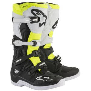 Bottes Cross Alpinestars Tech 5 Black White Yellow Fluo 2018