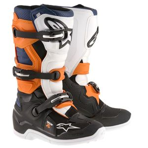 Bottes Cross Alpinestars Tech 7s Black Orange White Blue Enfant 2018